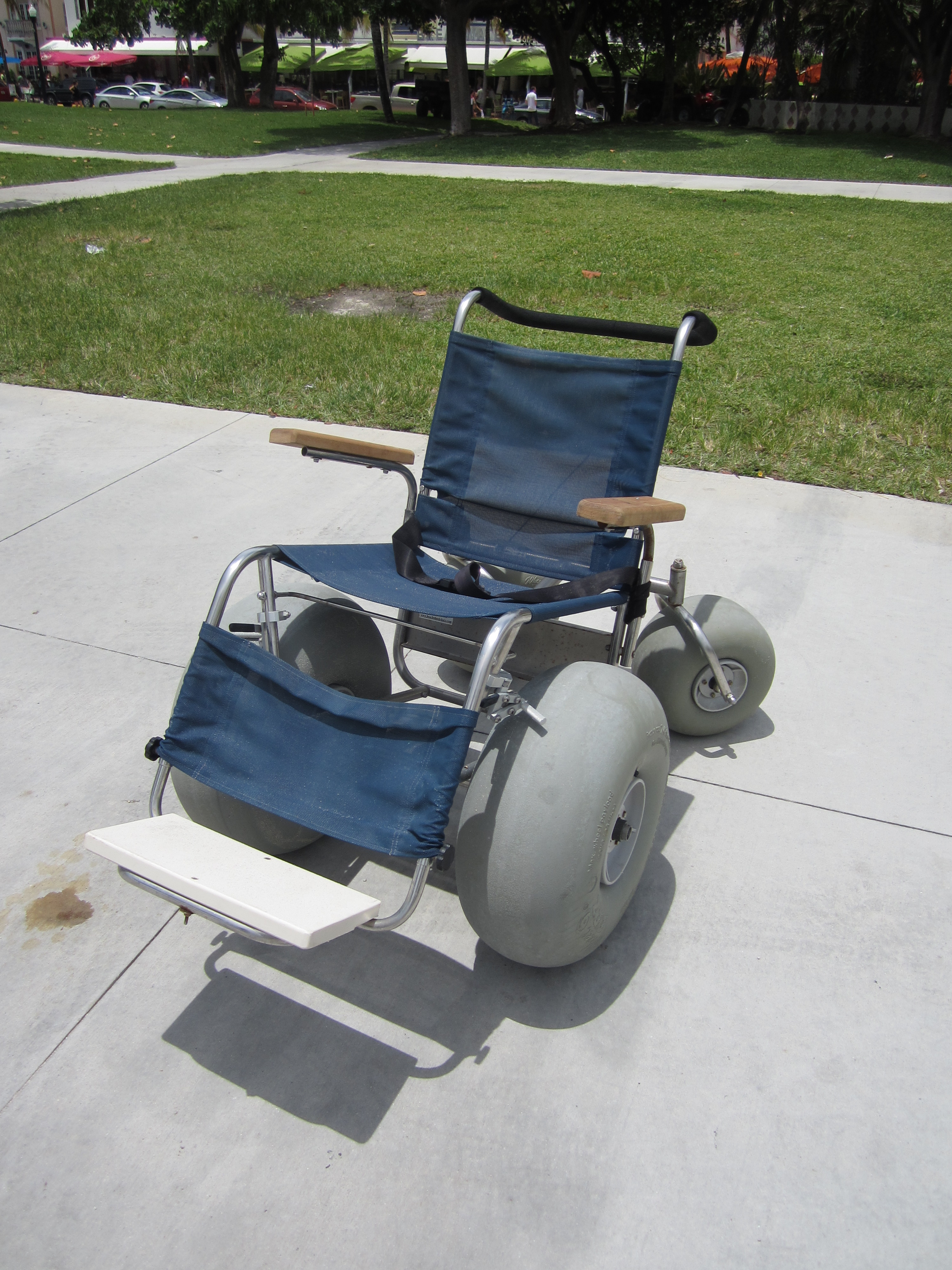 Example of a Manual Beach Wheelchair