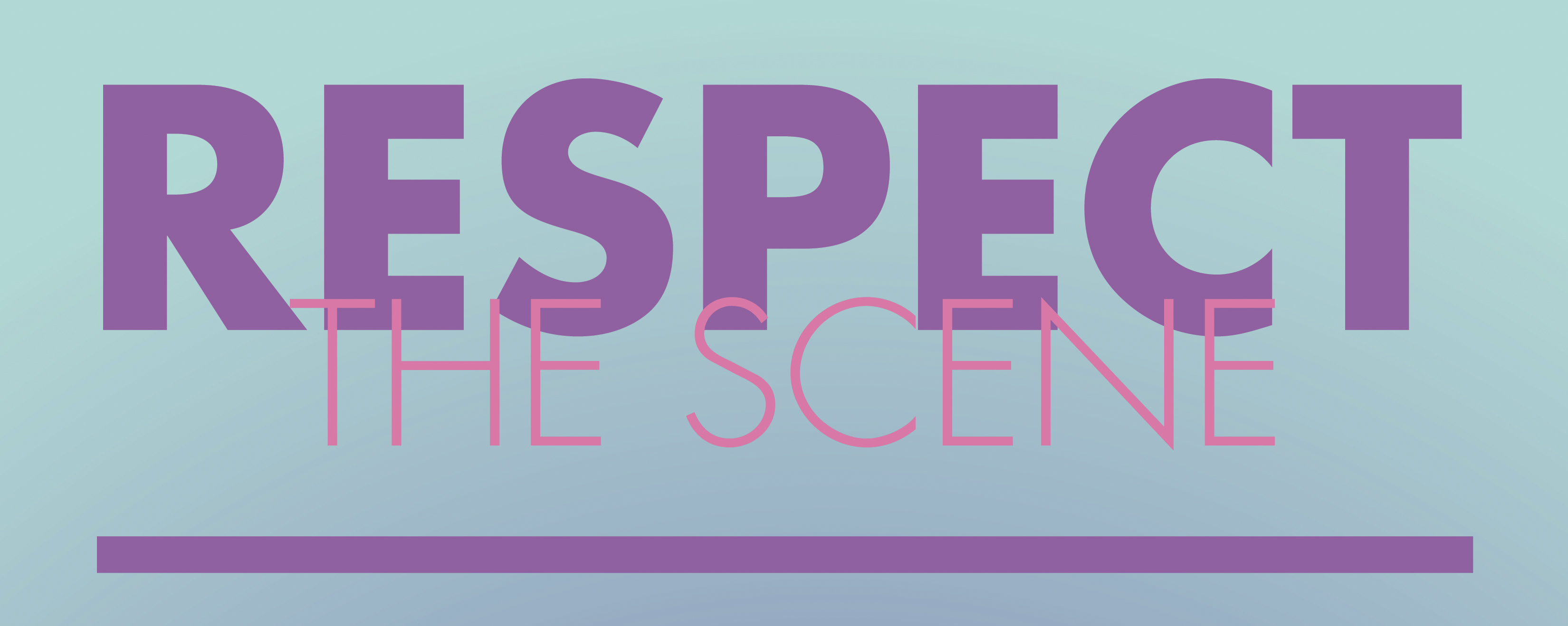 Image for respect the scene homepage, title