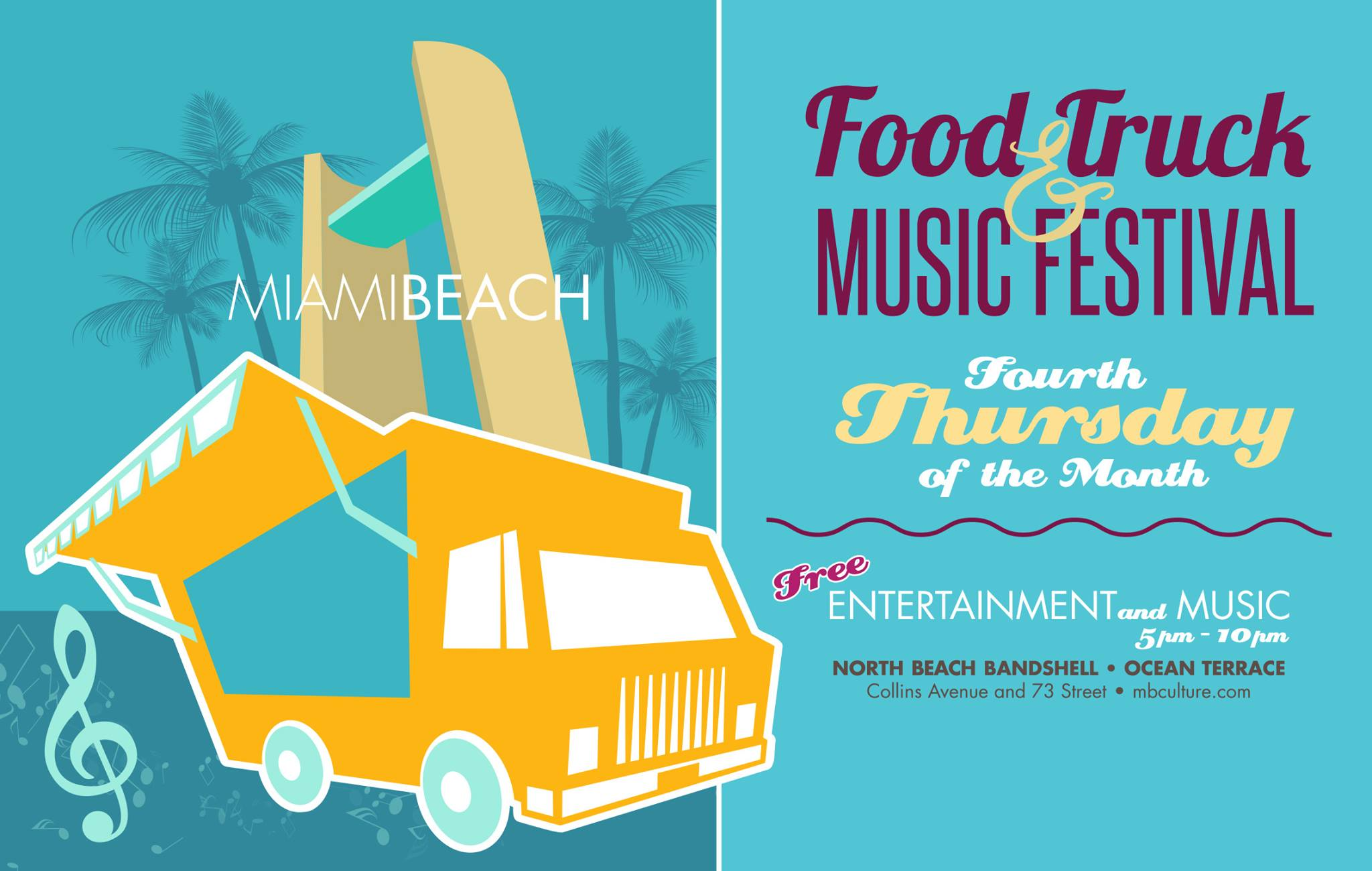 A New Night for Miami Beach Food Truck & Music Festival