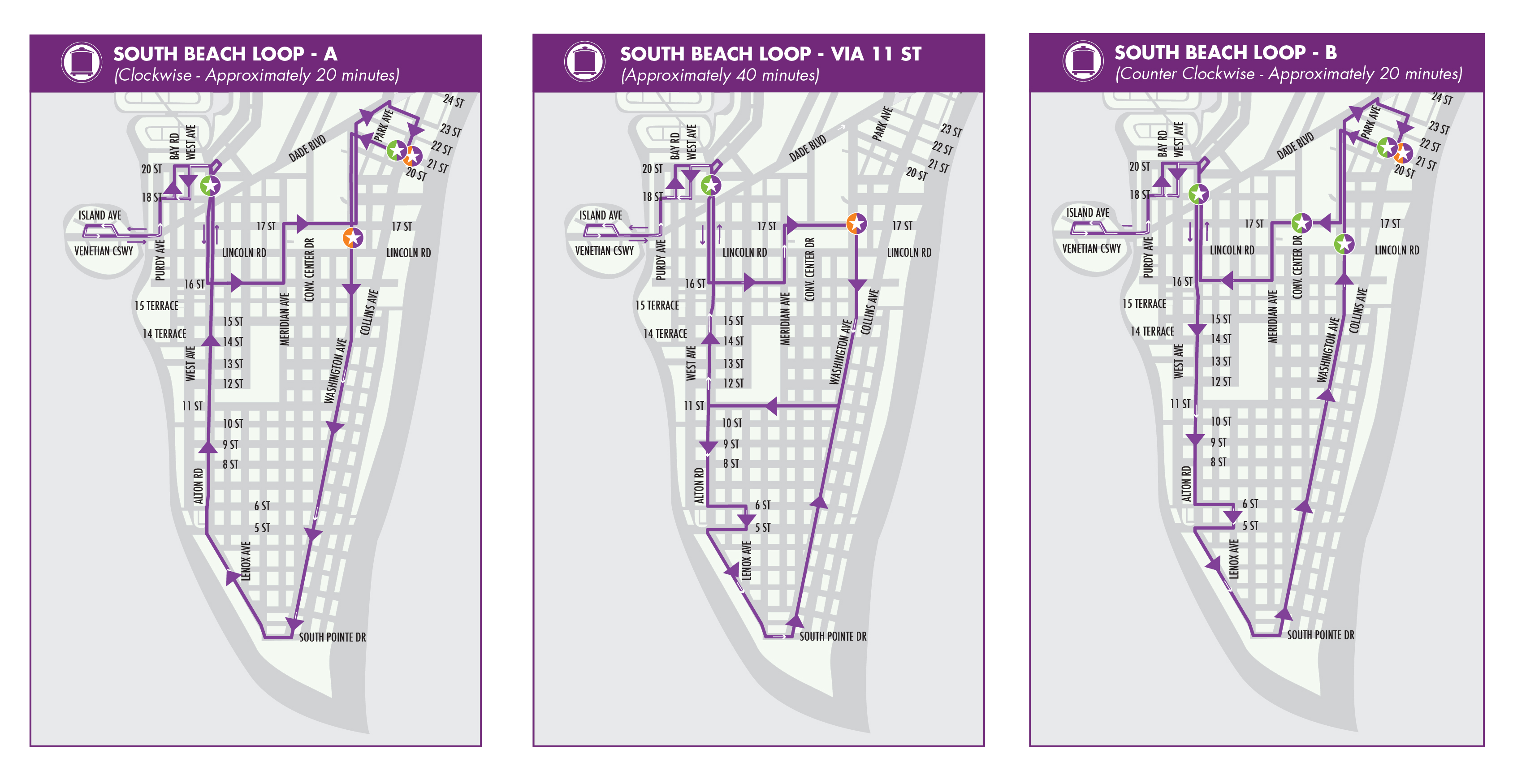 South Beach Service Map