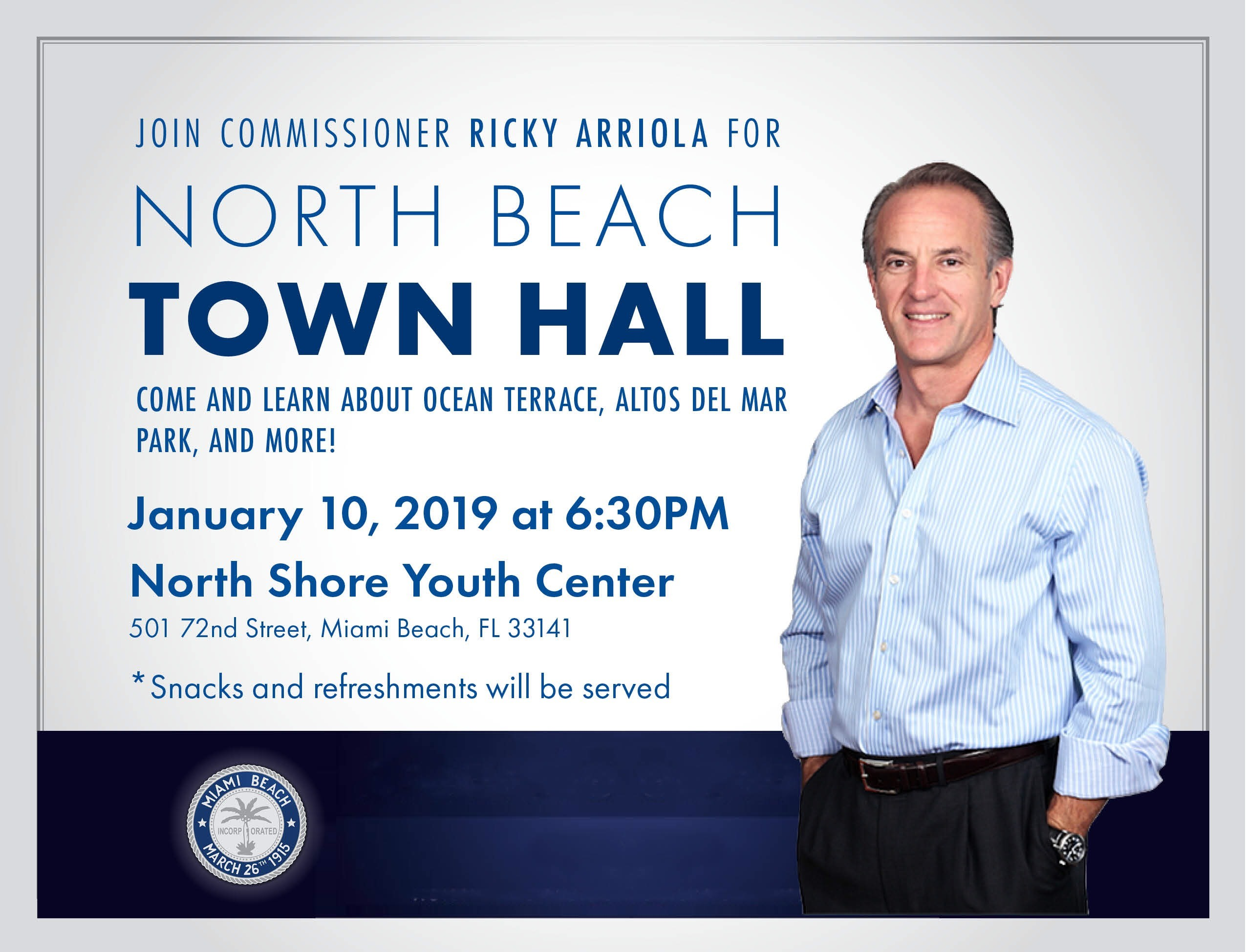 North Beach Town Hall with Commissioner Ricky Arriola