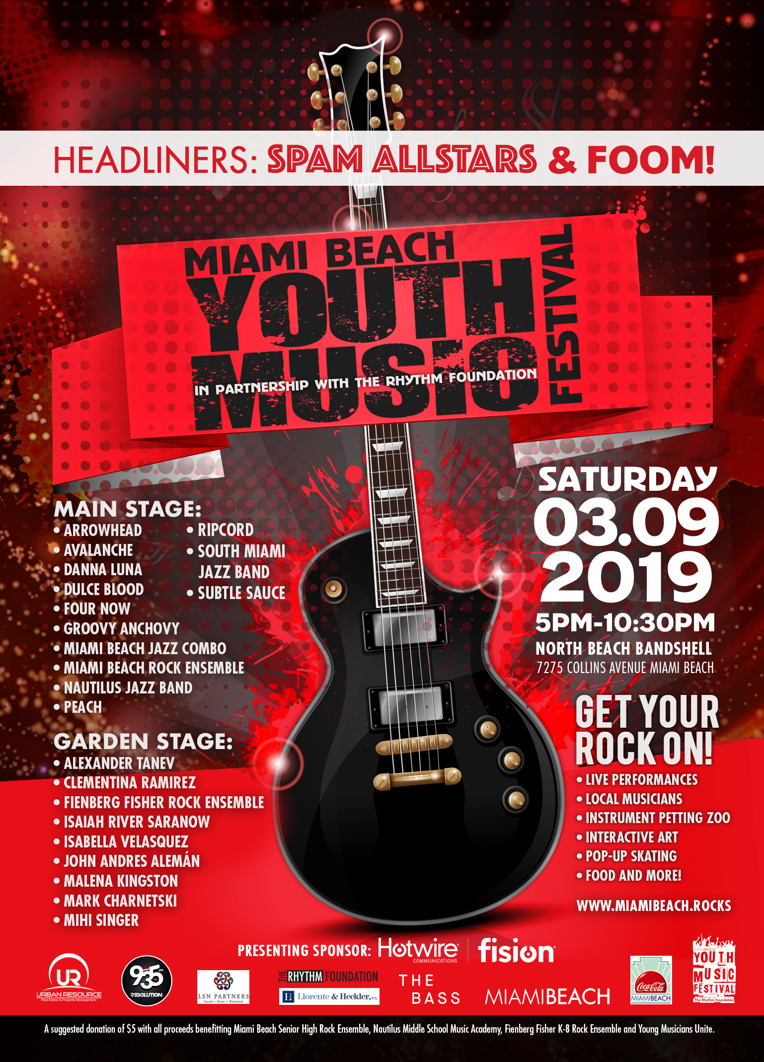 Youth Music Festival in Partnership with the Rhythm Foundation