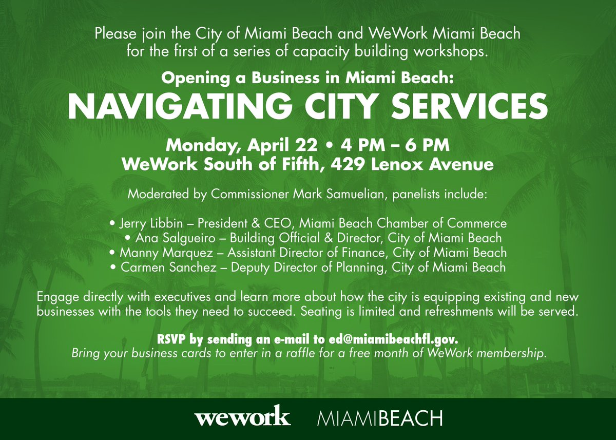 The City of Miami Beach Partners with WeWork