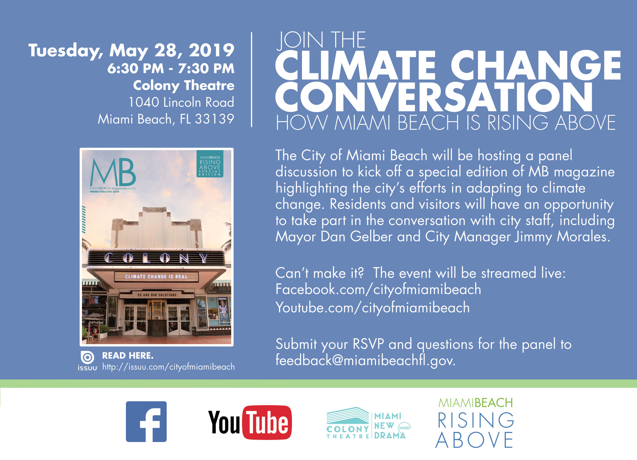 Climate Change Conversation – How Miami Beach is Rising Above