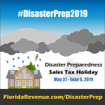 Sales tax holiday for disaster prep supplies May 31 - June 6, 2019