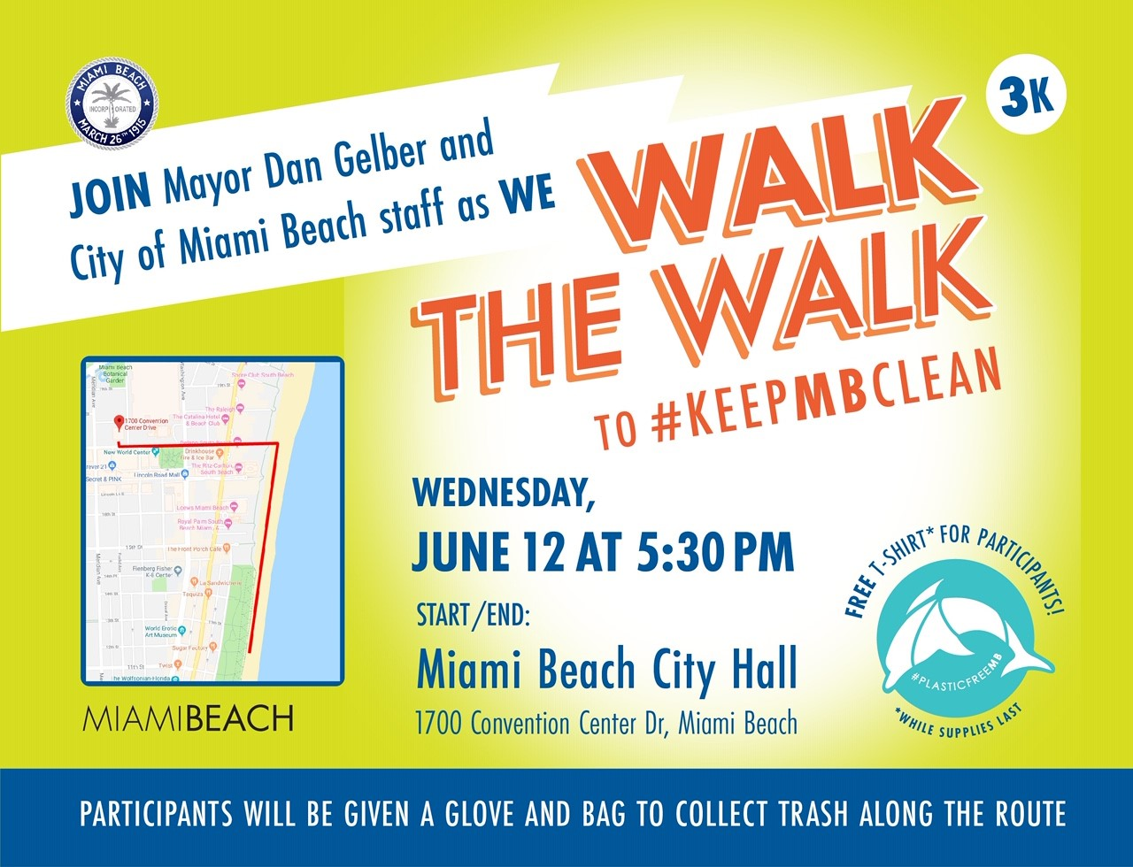 Walk the Walk to #KeepMBClean.