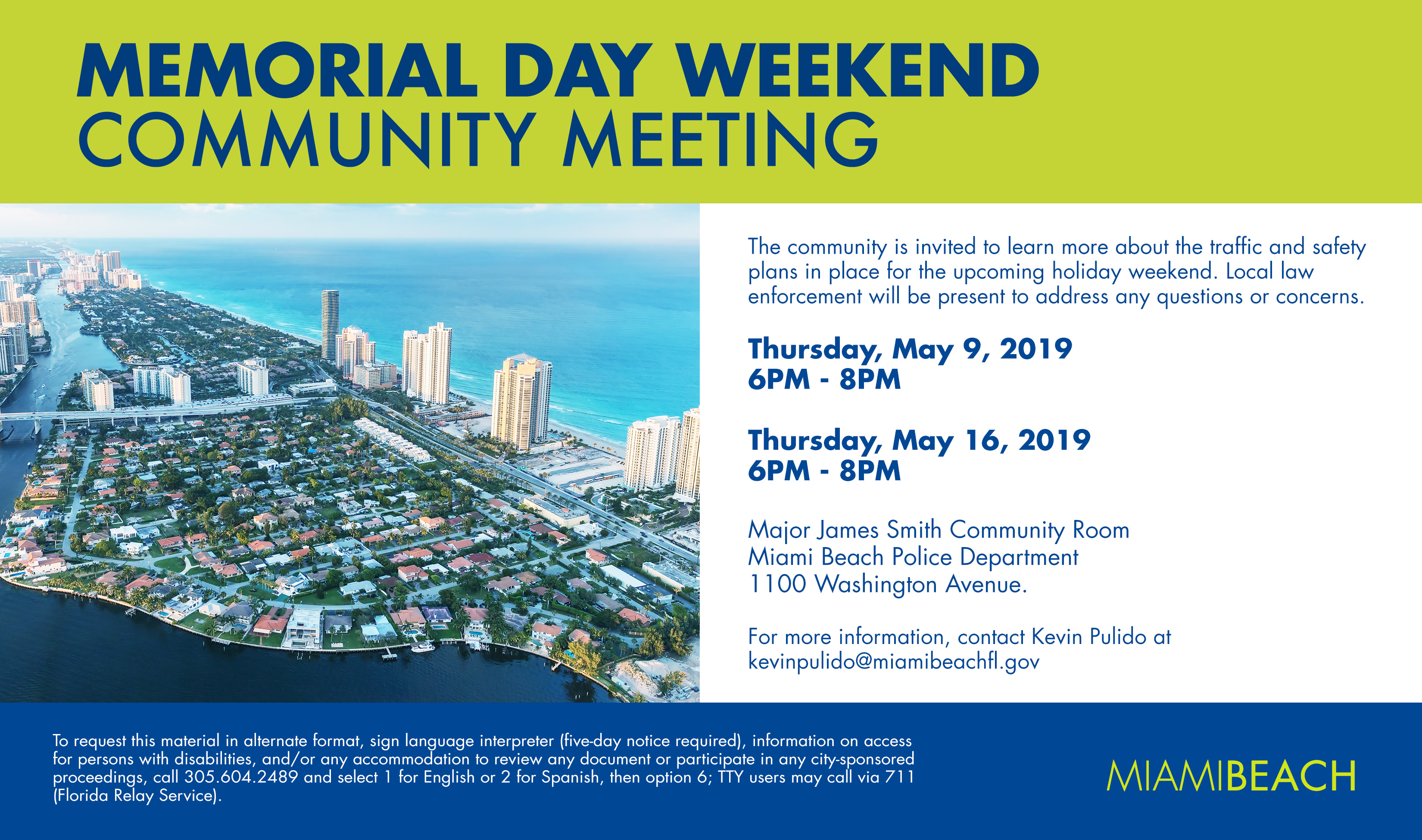 Memorial Day Weekend Community Meeting