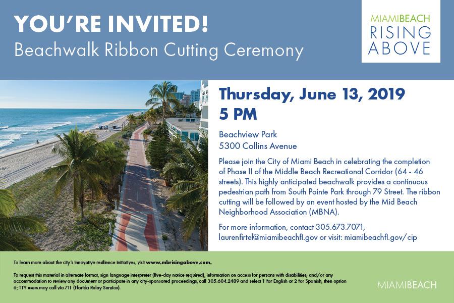 Beachwalk Ribbon Cutting Ceremony