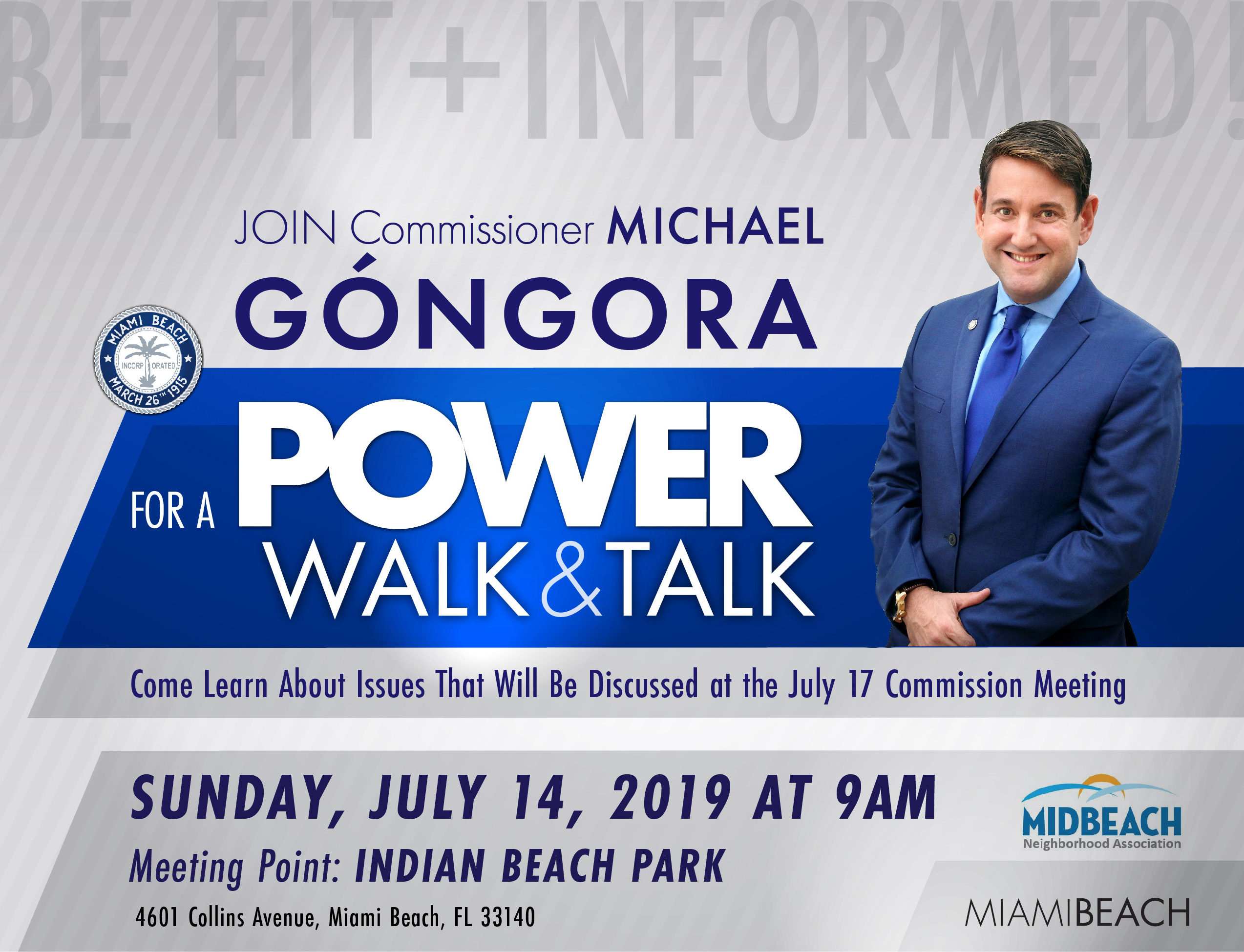 Power Walk & Talk with Commissioner Góngora