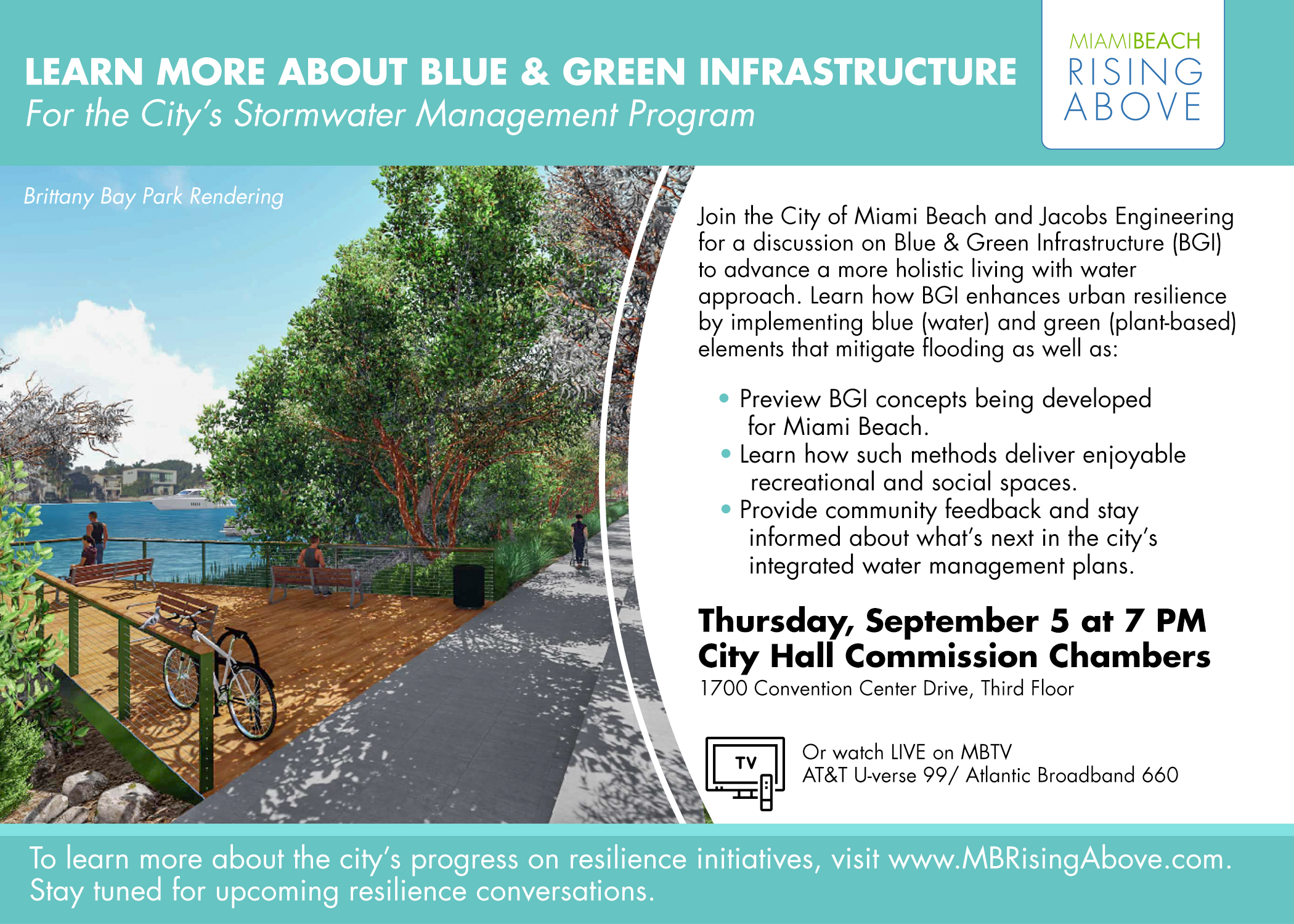 Resilience Conversation Series: Blue Green Infrastructure