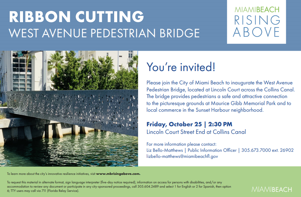 West Avenue Pedestrian Bridge Ribbon Cutting