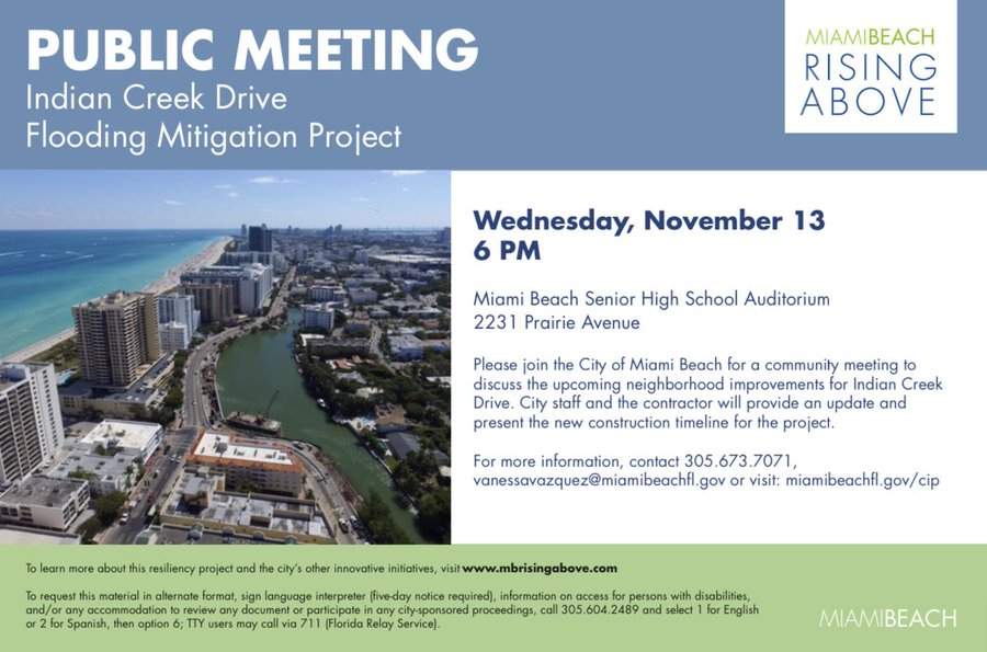 Indian Creek Drive Flooding Mitigation Project Public Meeting