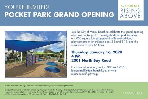 Pocket Park Grand Opening