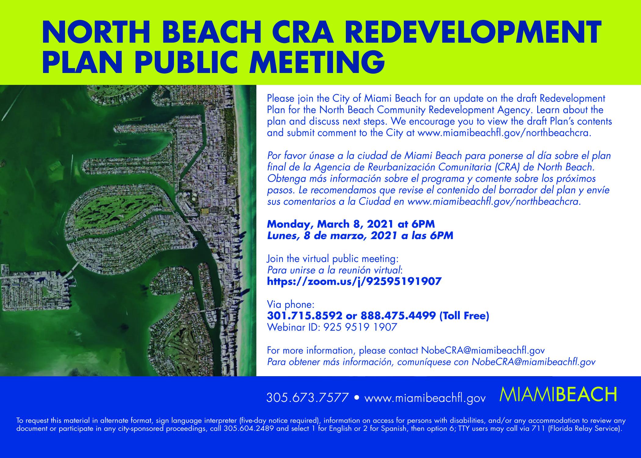 North Beach CRA Redevelopment Plan Public Meeting