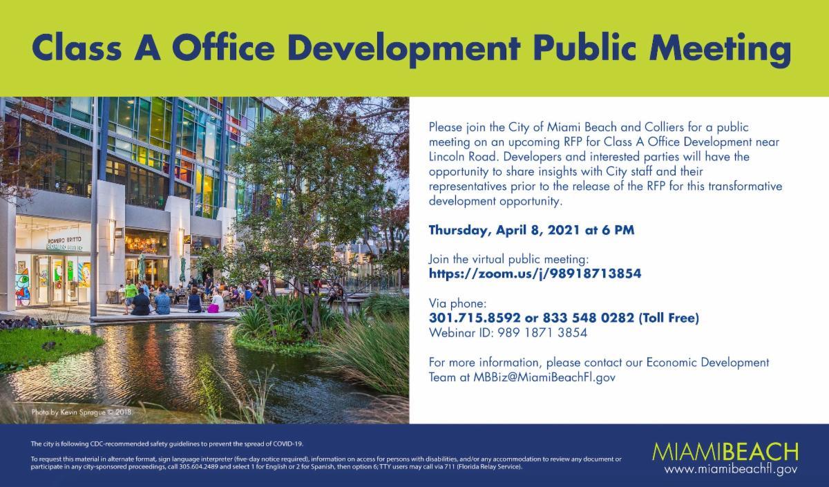 Class A Office Development Public Meeting