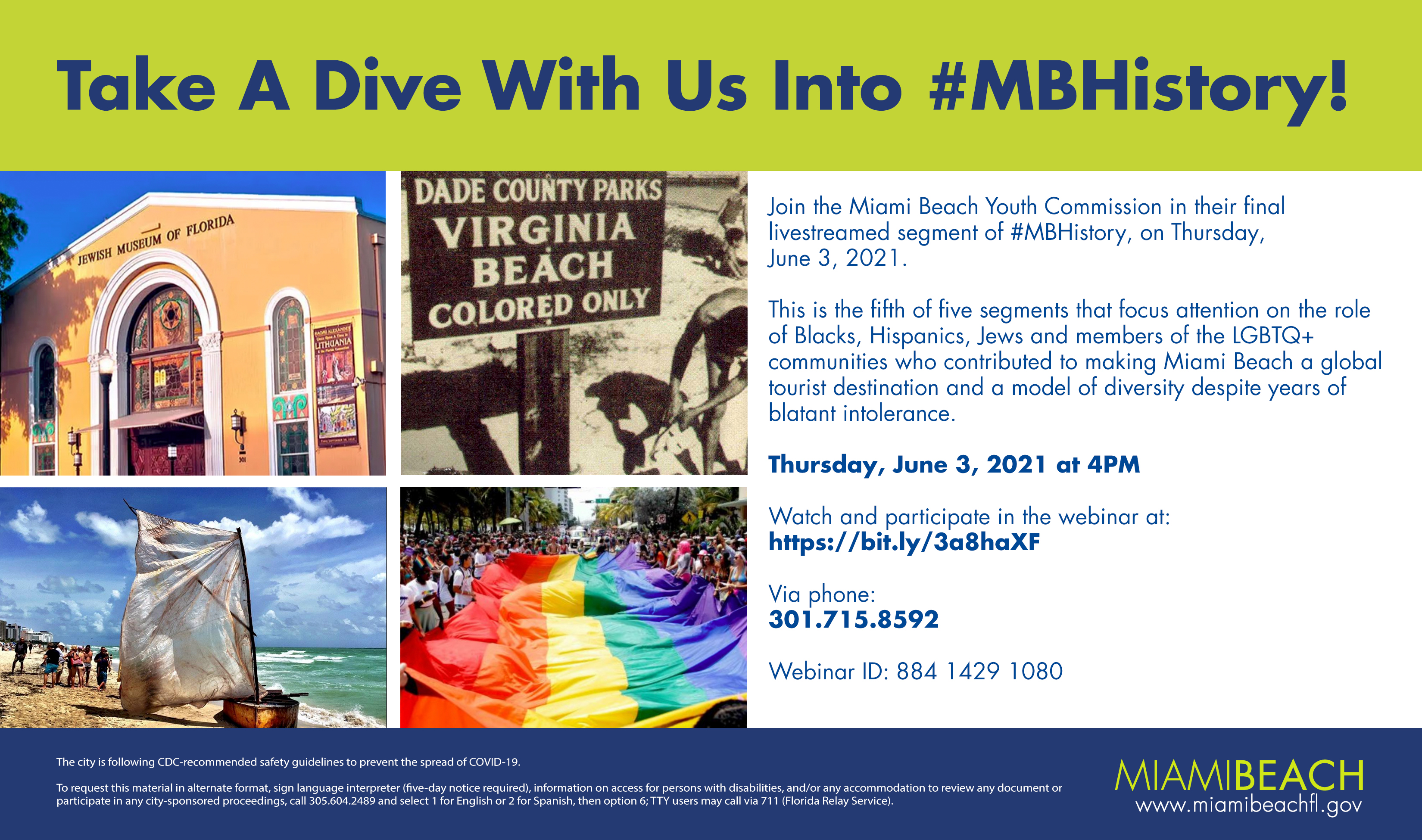 #MBHistory with the Miami Beach Youth Commissioners