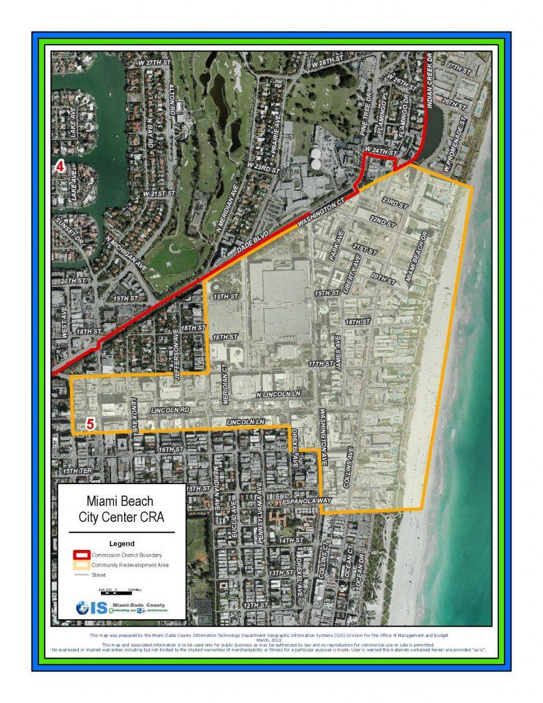 MB City Center CRA boundary map